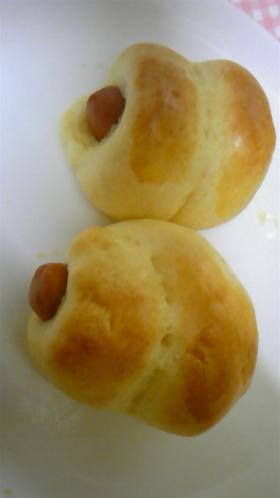 短時間で☆手作りソーセージパン♪