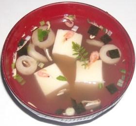 川海老入り松茸のお吸い物