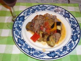 牛肉となすのトマト煮☆イタリアン風