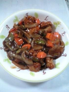 鶏の唐揚げ酢豚風