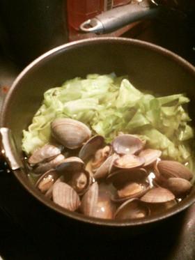 あさりとキャベツのサッと煮^^