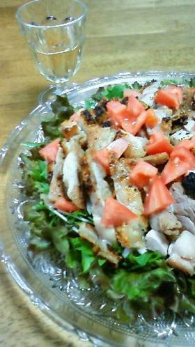 簡単美味☆グリルドチキンのご馳走サラダ
