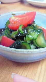 ポン酢で☆トマトときゅうりの酢の物の写真
