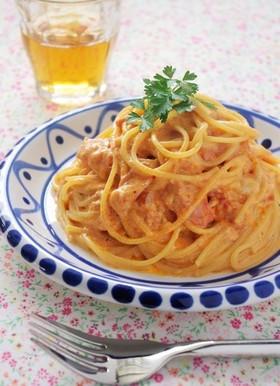 スパゲティカルボナーラ トマト風味