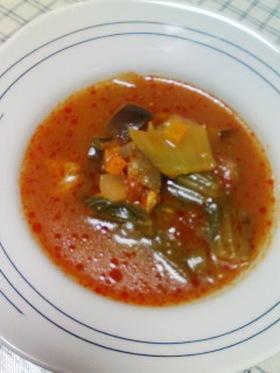 野菜たっぷり☆えびトマトスープ