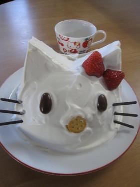 キティちゃんのドームケーキ