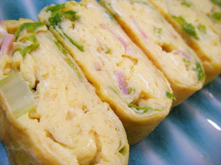 お弁当✿香るシャキ②セロリベーコン卵焼き