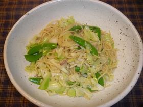 春野菜のアンチョビパスタ