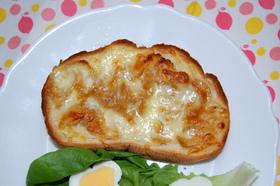 ✿ハニーなコーンフレーク&チーズトースト