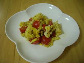 ミニトマトとたまごの簡単炒め