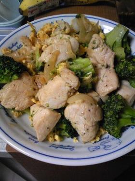 鶏肉とブロッコリーのマヨ炒め