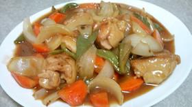 鶏肉と玉葱人参ピーマンのサッパリ甘酢煮★