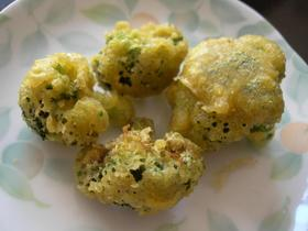 ブロッコリーのカレー風味天ぷら