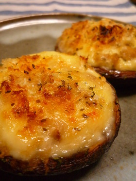 カリッと♪椎茸のマヨチーズ焼き