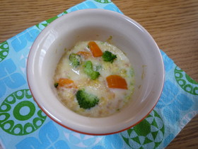 離乳食 鮭のコーンクリームグラタン