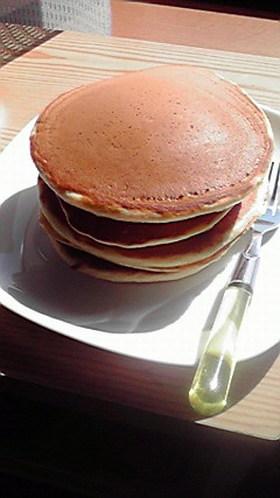 ワンボウルパンケーキ♪手作りホットケーキ