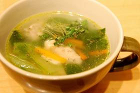 鶏とチンゲン菜のスープ