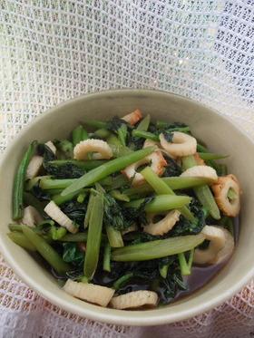 うどシリーズ うど葉と竹輪の炒め煮