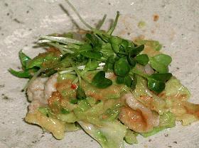 豚肉とキャベツの和え物(味噌風味)
