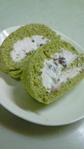 米粉でふわッもちッ抹茶ロールケーキ★