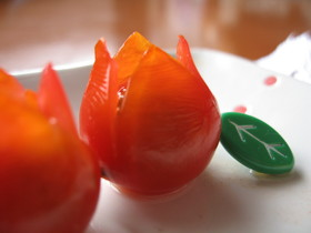 お弁当に❤チューリップのお花(・ω・)✿
