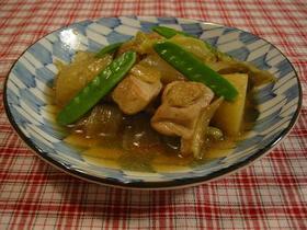 旬の春野菜と鶏肉の煮物