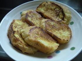 こんがり☆フランスパンのフレンチトースト