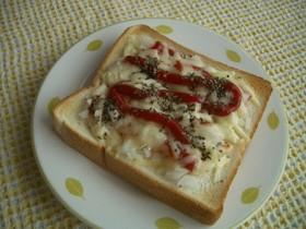 朝は簡単!チーズバーガー味トースト