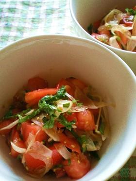 トマトの中華風ノンオイルサラダ