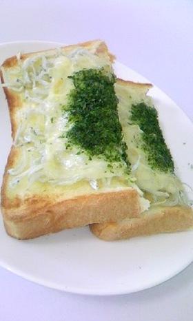 柚子胡椒が香る☆じゃこチーズトースト♪