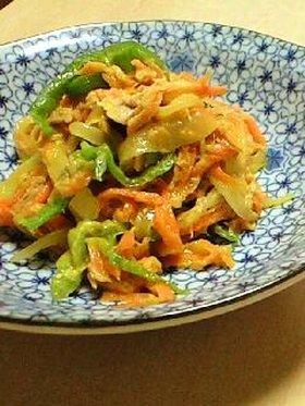 残り野菜でオイマヨ炒め