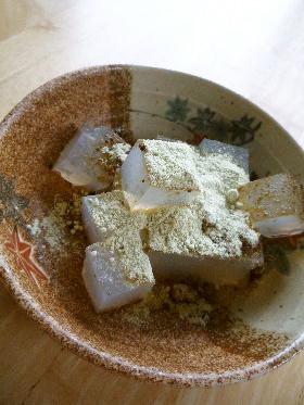 ダイエットおやつ 寒天にきな粉と黒砂糖