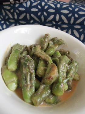 山菜シリーズ たらの芽の酢味噌和え