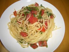 簡単なのに美味!トマトの冷製パスタ☆