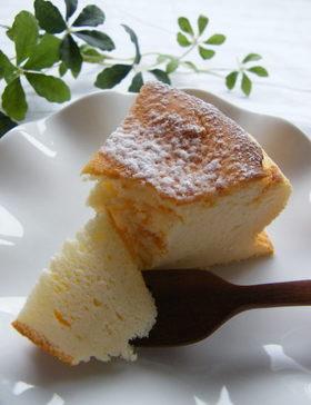 甘さ控えめ!あっさりスフレチーズケーキ