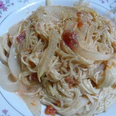 豆乳トマトクリームパスタ
