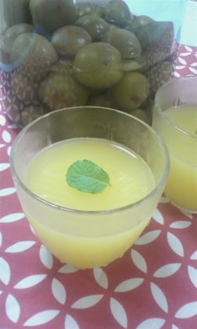 梅酒とオレンジのゼリー