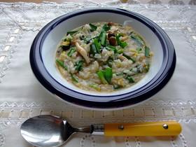 にらと豆板醤のピリ辛スープ飯
