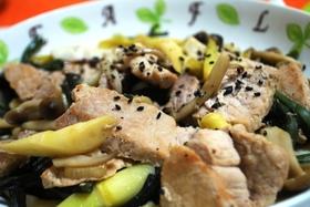 ★食べやすい♪山菜と豚肉の中華炒め★