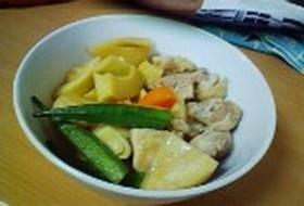 めんつゆで タケノコと鶏肉の煮物