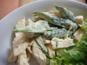 鶏むね肉アスパラマヨマスタード和えサラダ