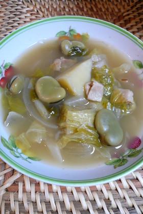 そらまめの野菜スープ