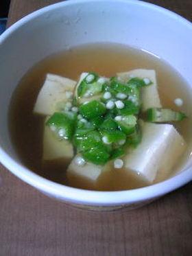 豆腐とオクラのお吸い物