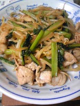 青菜と豚肉の炒め和え