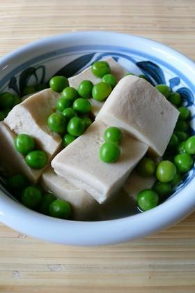 グリーンピースと高野豆腐のふっくら煮