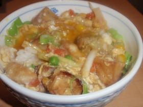 親子丼風高野豆腐丼