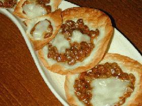 カリッ♪プチピザ納豆チーズ♪他・・