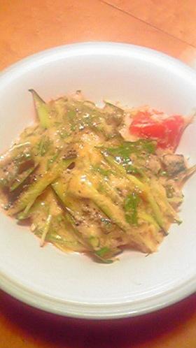 夏野菜のトロトロ梅サラダ