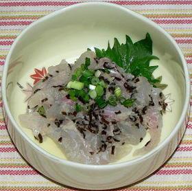 鯛と塩昆布の辛味大根おろし和え