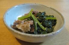 小松菜と牛肉の煮物